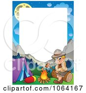 Clipart Camping Boy Scout Frame 2 Royalty Free Vector Illustration