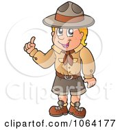 Clipart Smart Scout Boy Royalty Free Vector Illustration