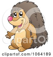Clipart Happy Hedgehog Royalty Free Vector Illustration by visekart