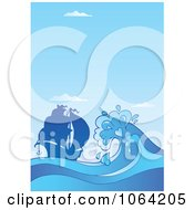 Clipart Large Wave By Ship Royalty Free Vector Illustration by visekart