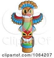 Clipart Native Totem Pole Royalty Free Vector Illustration by visekart
