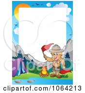 Clipart Camping Boy Scout Frame 3 Royalty Free Vector Illustration