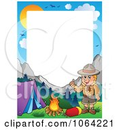 Clipart Camping Boy Scout Frame 1 Royalty Free Vector Illustration