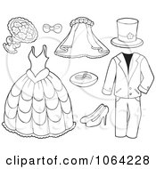 Outlined Wedding Items