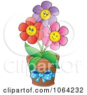 Clipart Happy Colorful Daisy Flowers 4 Royalty Free Vector Illustration