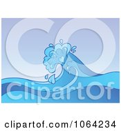 Clipart Splashing Ocean Wave Royalty Free Vector Illustration by visekart