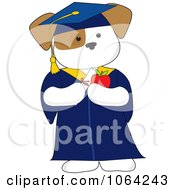 Clipart Cute Graduate Puppy Royalty Free Vector Illustration