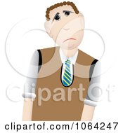 Clipart Sad Father Or Businessman Royalty Free Vector Illustration