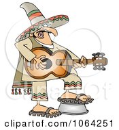 Clipart Mexican Guitarist Royalty Free Vector Illustration