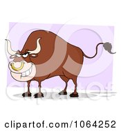 Clipart Tough Bull Grinning Royalty Free Vector Illustration by Hit Toon