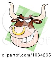 Clipart Bull With Nose Ring Royalty Free Vector Illustration by Hit Toon