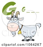 Clipart Goat Under G Is For Royalty Free Vector Illustration