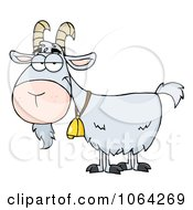 Clipart Gray Goat Royalty Free Vector Illustration by Hit Toon #COLLC1064269-0037