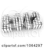 Clipart 3d White 2012 Royalty Free CGI Illustration