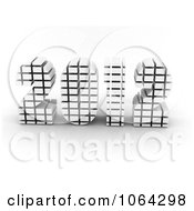 Clipart 3d Upright White 2012 Royalty Free CGI Illustration by MacX
