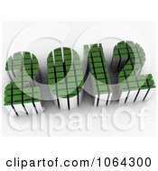 Clipart 3d Green 2012 Royalty Free CGI Illustration