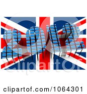 Clipart 3d 2012 And British Flag Royalty Free CGI Illustration by MacX