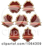 Clipart Brown Labels Digital Collage Royalty Free Vector Illustration