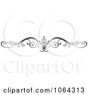Clipart Black Swirl Rule Design Element 3 Royalty Free Vector Illustration