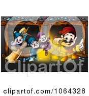 Clipart Dwarfs In A Mine Royalty Free Illustration by dero