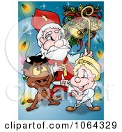 Clipart Devil And Angel With Santa Royalty Free Illustration by dero