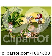 Clipart Bugs Working In Insect World Royalty Free Illustration by dero