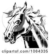 Clipart Black Horse Head Royalty Free Vector Illustration