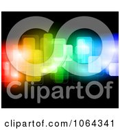 Clipart Abstract Colorful Blocks On Black Royalty Free Vector Illustration