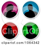 Clipart Round People Avatars Digital Collage Royalty Free Vector Illustration