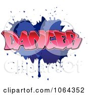 Clipart Comic Splatter With Dancer Text Royalty Free Vector Illustration by Vector Tradition SM