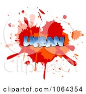 Clipart Comic Splatter With Urban Text Royalty Free Vector Illustration by Vector Tradition SM