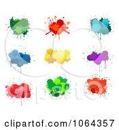 Clipart Colorful Splatters Digital Collage 1 Royalty Free Vector Illustration by Vector Tradition SM