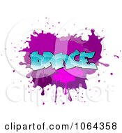 Clipart Comic Splatter With Dance Text Royalty Free Vector Illustration by Vector Tradition SM