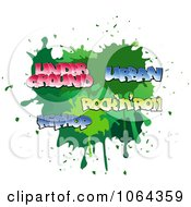 Clipart Comic Splatter With Music Words Royalty Free Vector Illustration