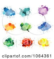 Clipart Colorful Splatters Digital Collage 2 Royalty Free Vector Illustration by Vector Tradition SM
