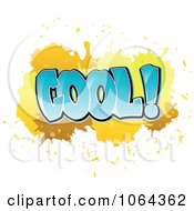 Clipart Comic Splatter With Cool Text Royalty Free Vector Illustration by Vector Tradition SM