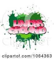 Clipart Comic Splatter With Underground Text Royalty Free Vector Illustration