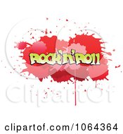 Clipart Comic Splatter With Rock N Roll Text Royalty Free Vector Illustration