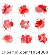 Clipart Red Splatters Digital Collage 3 Royalty Free Vector Illustration by Vector Tradition SM