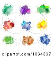 Clipart Colorful Splatters Digital Collage 3 Royalty Free Vector Illustration by Vector Tradition SM