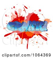 Clipart Comic Splatter With Graffiti Text Royalty Free Vector Illustration by Vector Tradition SM