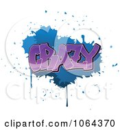 Clipart Comic Splatter With Crazy Text Royalty Free Vector Illustration