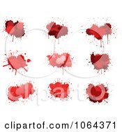 Clipart Red Splatters Digital Collage 2 Royalty Free Vector Illustration by Vector Tradition SM