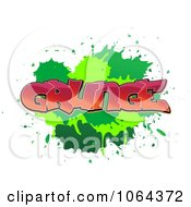 Clipart Comic Splatter With Grunge Text Royalty Free Vector Illustration by Vector Tradition SM
