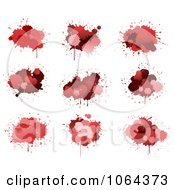 Clipart Red Splatters Digital Collage 1 Royalty Free Vector Illustration by Vector Tradition SM
