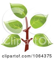 Clipart Leafy Branch Icon 4 Royalty Free Vector Illustration