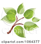 Clipart Leafy Branch Icon 2 Royalty Free Vector Illustration