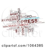 Clipart Media Word Collage Royalty Free Vector Illustration by Vector Tradition SM