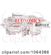 Clipart Economics Word Collage Royalty Free Vector Illustration