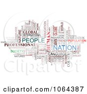 Clipart People Word Collage Royalty Free Vector Illustration by Vector Tradition SM